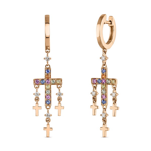 Earrings of Amulets of Frida, PE19106-ORZMULT_V