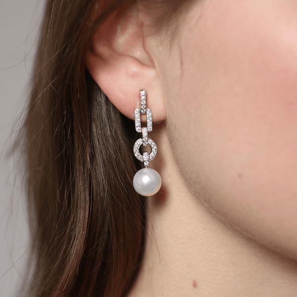 Pendientes de Perlas, PE15073-OBD_V