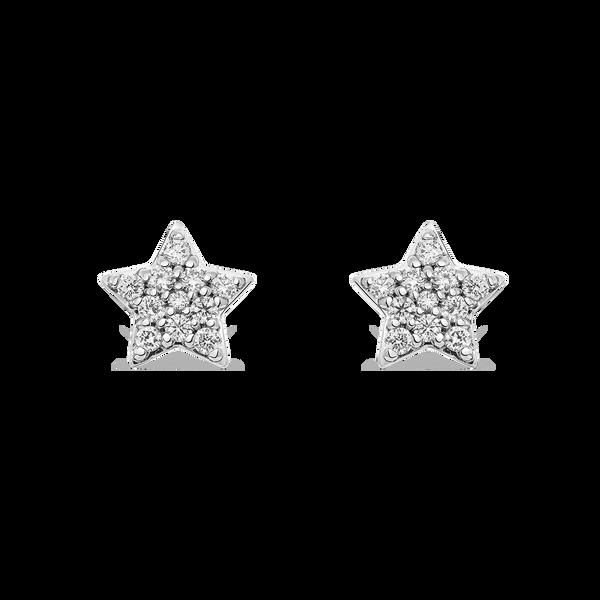 White gold earrings, PE14019-OBD_V