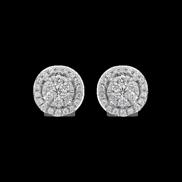 White gold earrings, PE11070-OBDR_V
