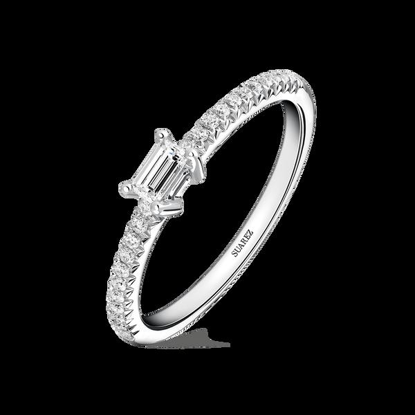 White gold ring, SL17001-00D015_V