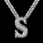 White gold pendant, PT17002-OBDS_V