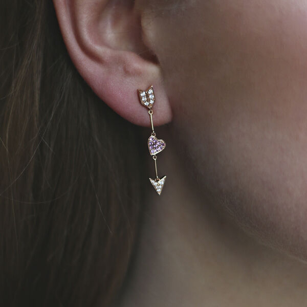 Romeo and Juliet earrings, PE17114-ORDZR_V
