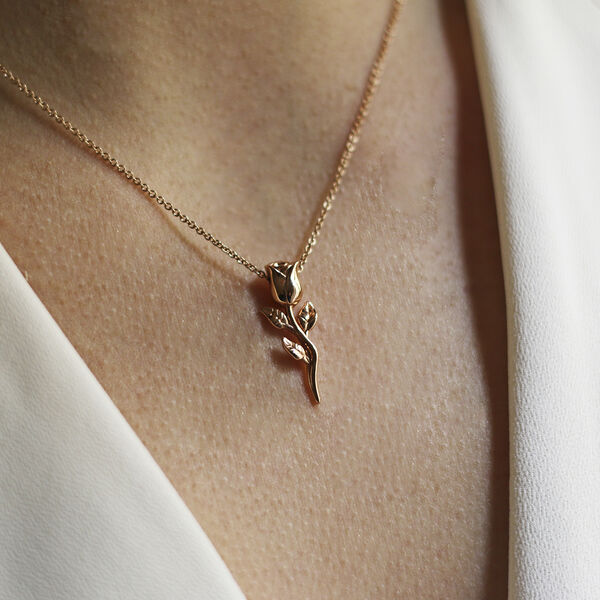 Rose gold pendant, PT17050-OR_V